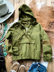 Army Green Pullover Jacket