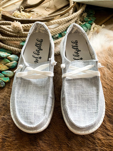 Light Grey Linen Slip-On