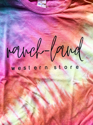 Tie Dye Ranch-Land Logo Tee