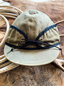 Olive Canvas Railroad Cap