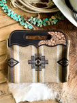 Hand Tooled Black & Tan Pendleton Purse