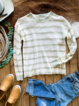 Ivory & Sage Stripe Sweater