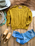 Mustard Fishnet Sweater