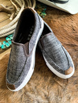 Black Tweed Slip-On Shoe