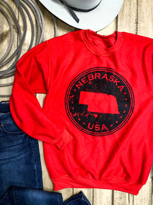 Nebraska Seal Reverse Sweatshirt - Ranch-Land Western Store