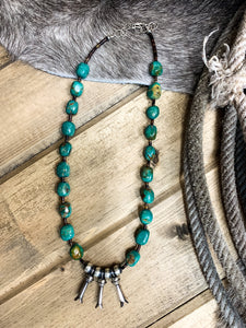 Tres Blossom Turquoise Necklace - Ranch-Land Western Store
