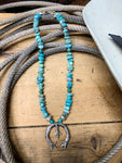 Turquoise Chip Naja Necklace - Ranch-Land Western Store