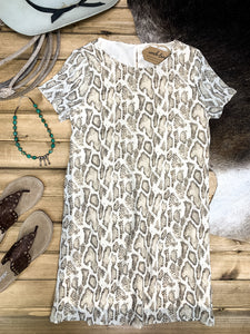 Snakeskin Print Shift Dress - Ranch-Land Western Store