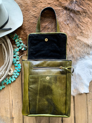 Olive Green Pendleton Convertible Backpack/Crossbody Bag