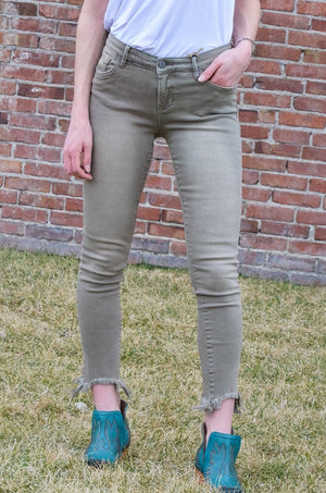 Dear John Joyrich Frayed Hem Ankle Skinny - Mortar - Ranch-Land Western Store