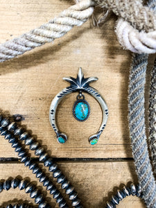 Sterling Silver & Turquoise Naja - Ranch-Land Western Store