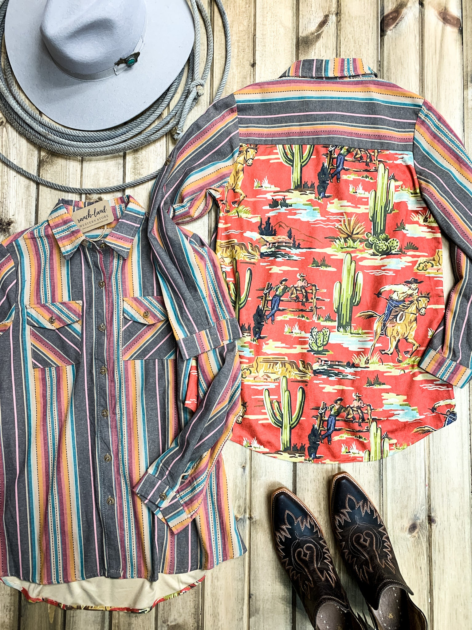 Retro Western Serape Shirt - Ranch-Land Western Store
