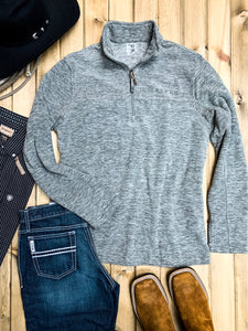 Roper Grey Fleece Quarter Zip Pullover - Ranch-Land Western Store