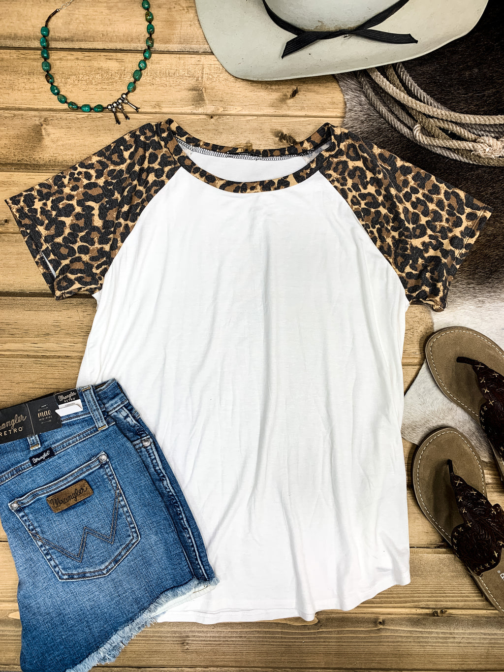 Cheetah Print Baseball Tee - Ranch-Land Western Store