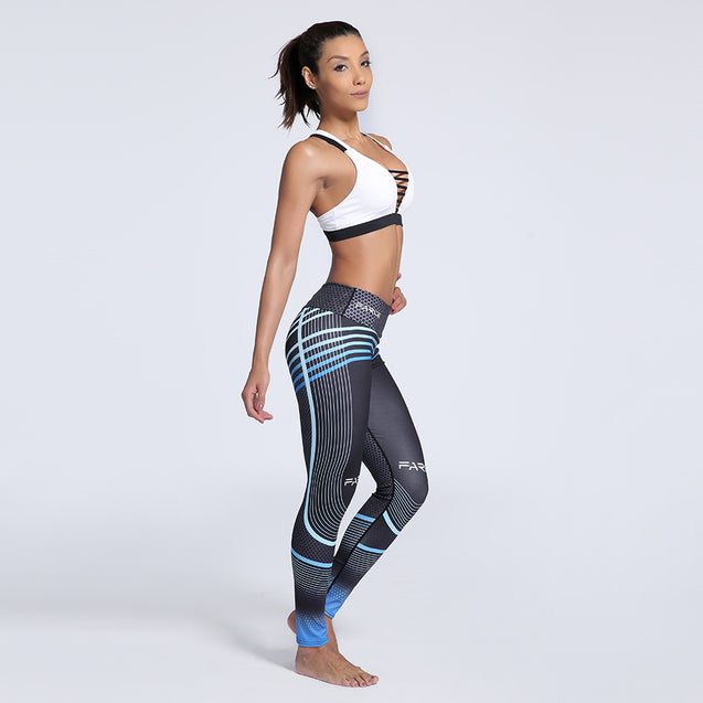 Alluring Gradient Color Printed Sporting Mid-Rise Waisted Workout Leggings for Women - Aspire Activewear