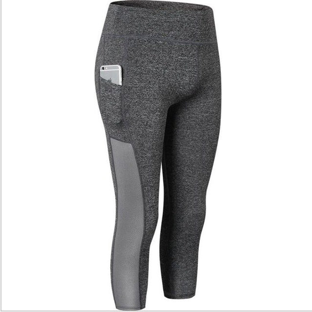 New Capris Mesh With Pocket Workout Leggings for Women - Aspire Activewear