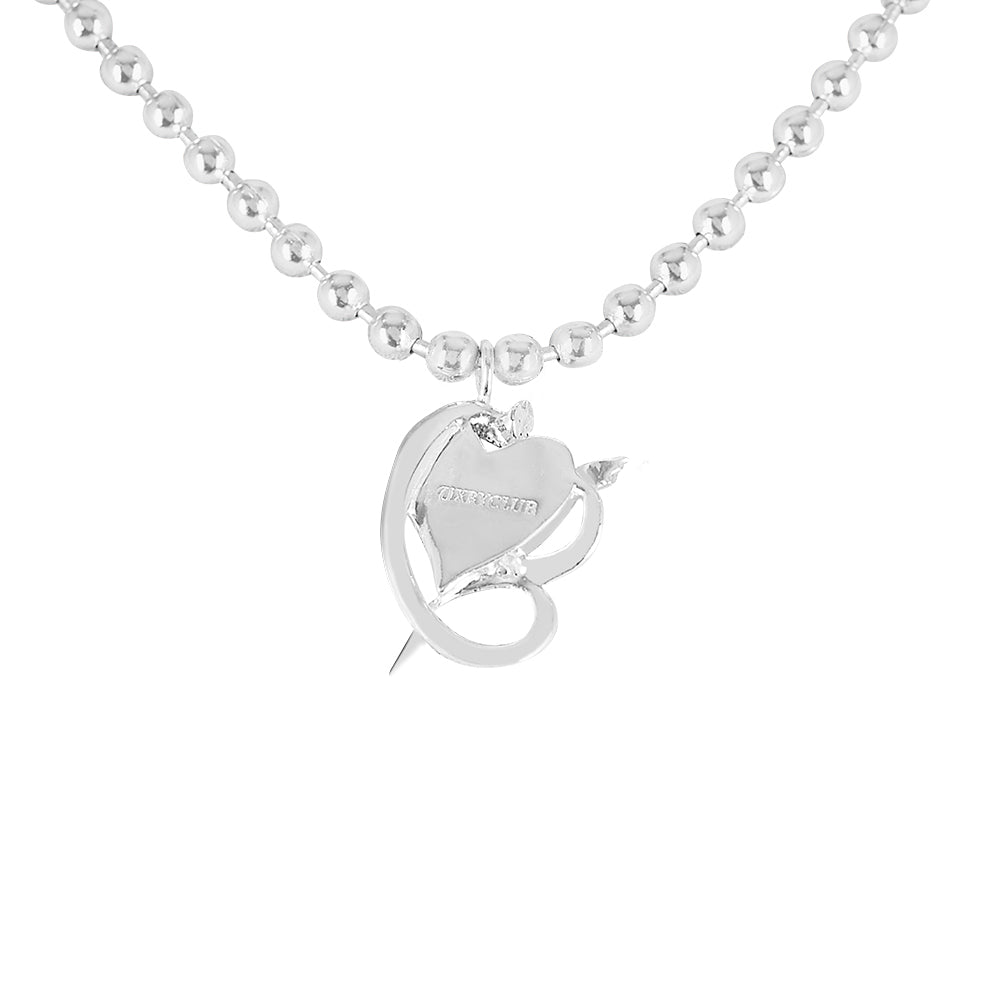 EVA DRAGON MINI HEART NECKLACE
