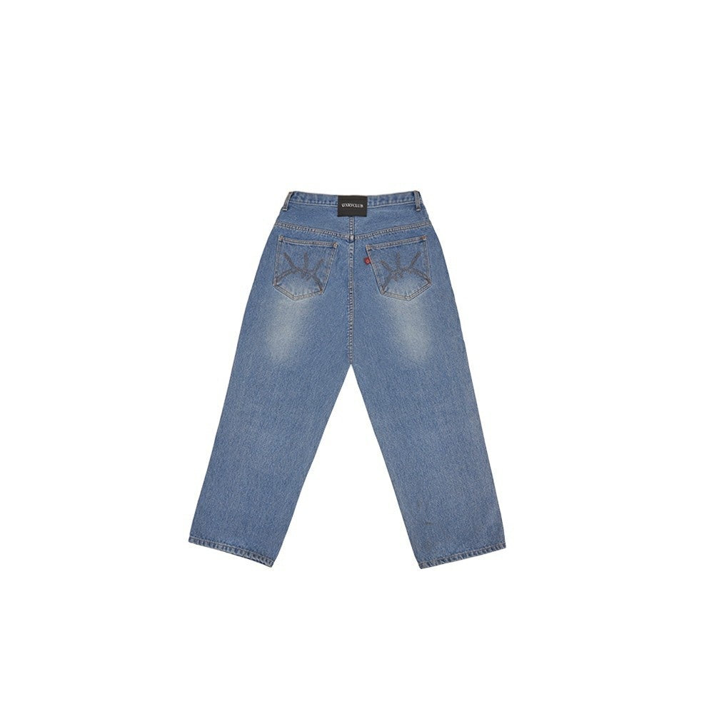 UXRY BLUE BAGGY JEANS