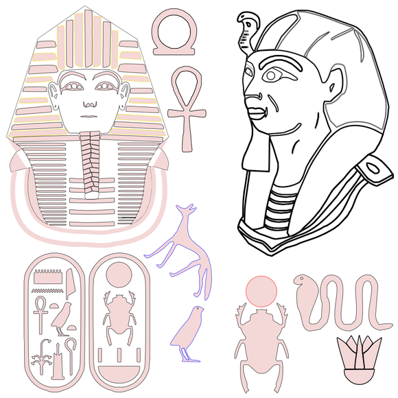 Boy KingTut SVG File