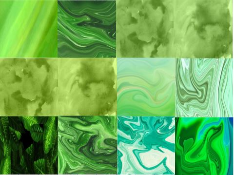 Pattern Abstracts-GREENS in Adhesive and/or Heat Transfer Vinyl