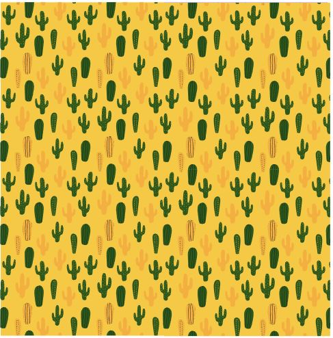 Pattern Cactus Succulents Desert in Adhesive and/or Heat Transfer Vinyl