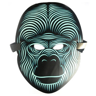 Sound Activated LED Light Up Rave Mask