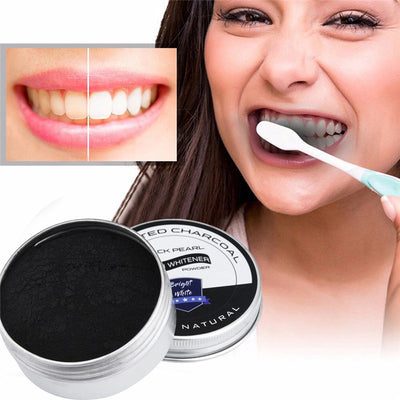 Black Pearl Teeth Whitening Charcoal Powder