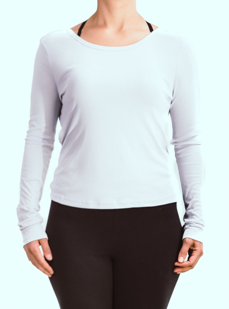 Long Sleeve Overlap Back Top
