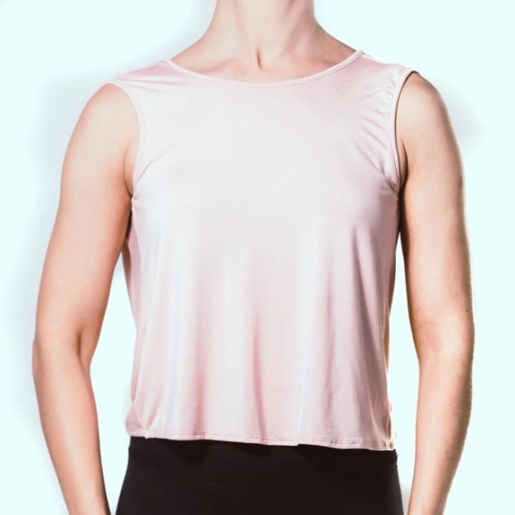 Blush Sleeveless Low Back