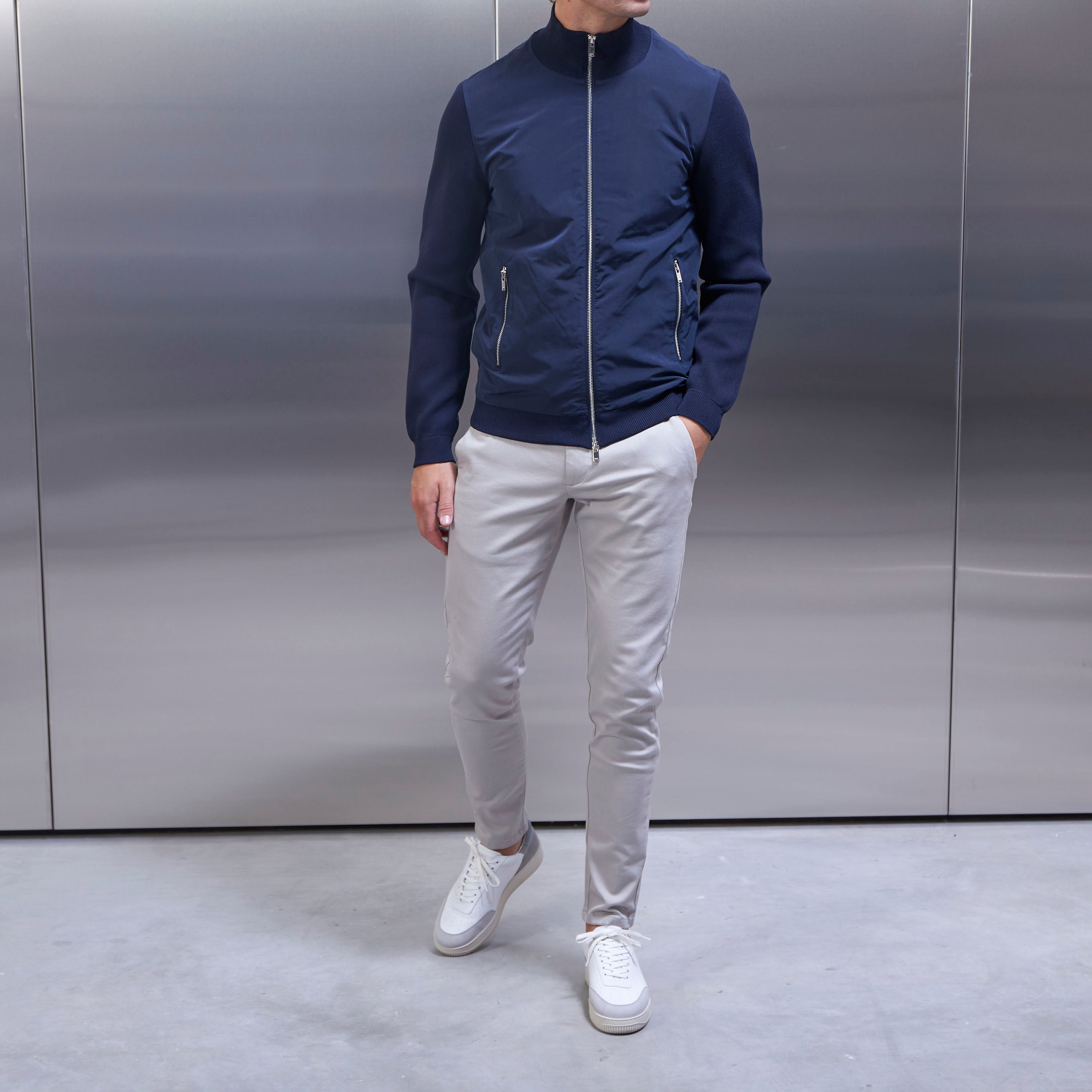 Knitted Hybrid Jackets