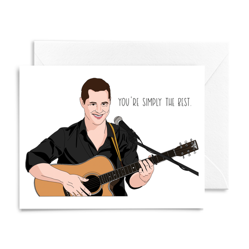 """Schitt's Creek"" Patrick Singing ""You're Simply the Best"" Card"