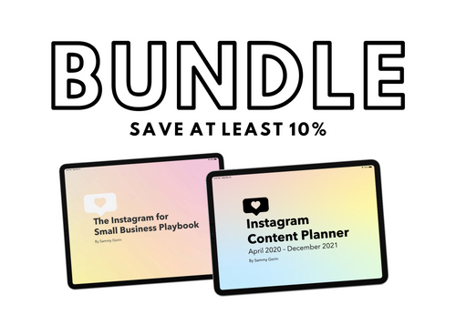 Bundle: The Instagram for Small Business Playbook + Instagram Content Planner