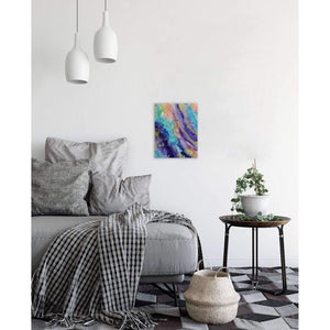 Alcohol Ink on Canvas Wall Art | Peachy Blue