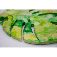 Alcohol Ink Painting Set Under Resin | Monstera 12""