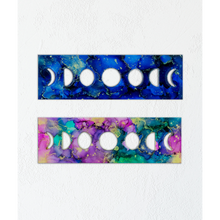 "Alcohol Ink Painting Set Under Resin | Moon Phases 6x12"" Multi"