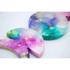 Alcohol Ink Painting Set Under Resin | Moon Phases Purple Palette 11""