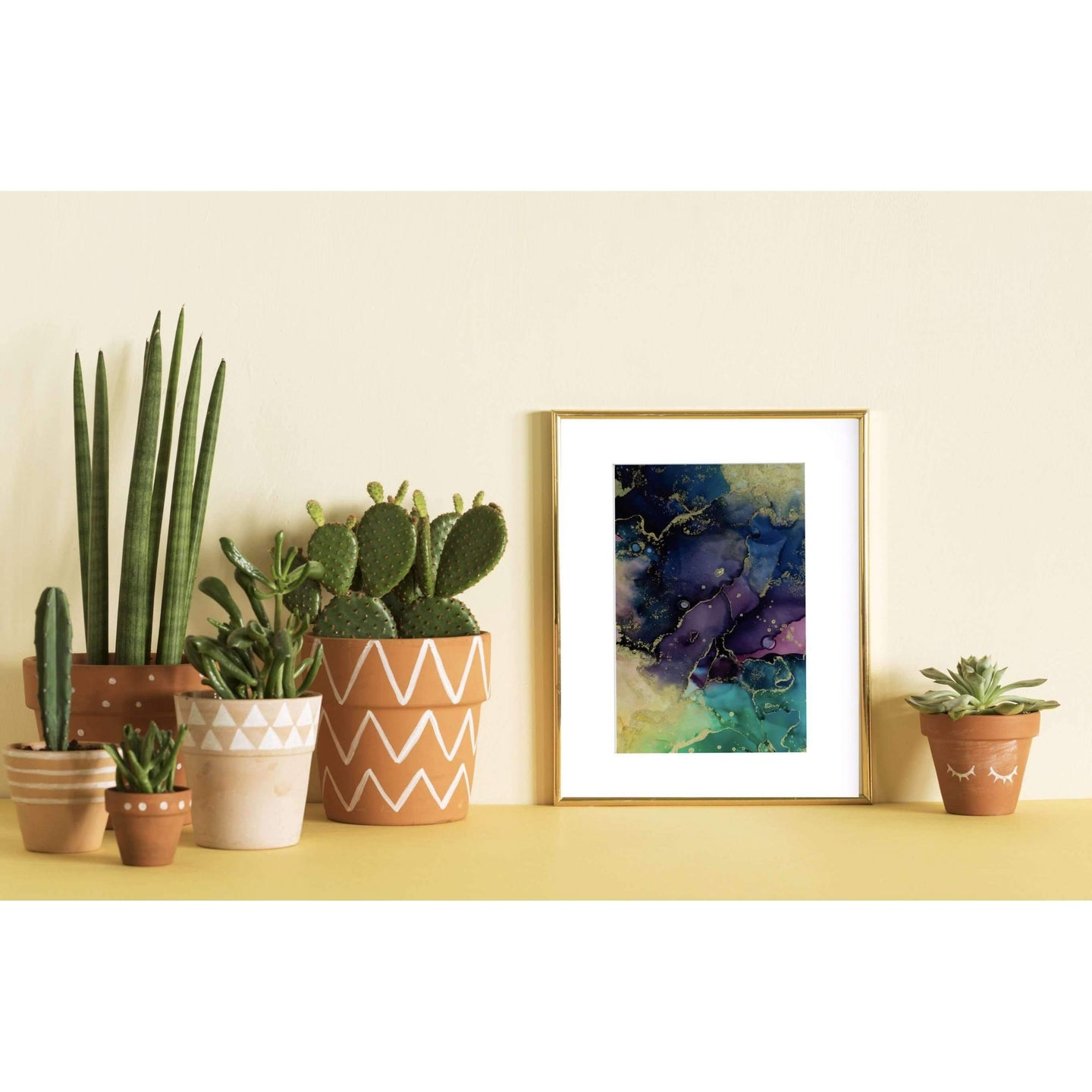Alcohol Ink Wall Art on Yupo Paper Dark Clouds