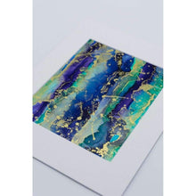 Alcohol Ink Wall Art on Yupo Paper Summer Stripes