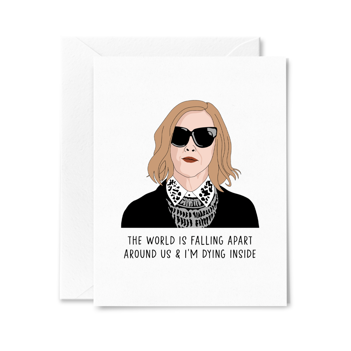 Moira The World is Falling Apart Card