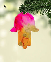 Hamsa Alcohol Ink Christmas Ornament