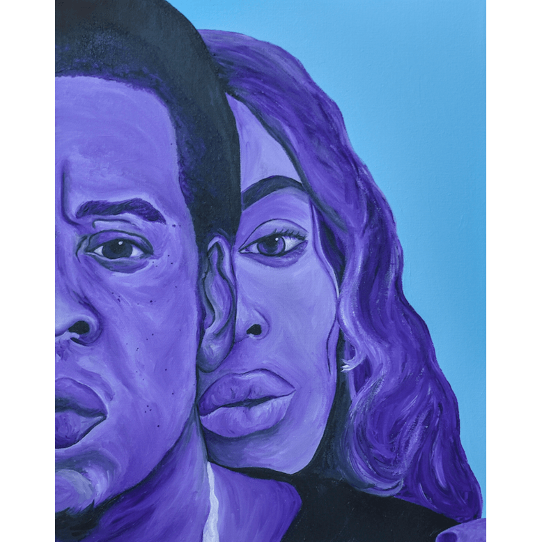 Jay Z and Beyonce Canvas Painting Wall Art, On The Run Tour II