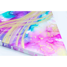 "Luminous Alcohol Ink Painting on Canvas Wall Art | 12"" Triangle"