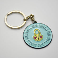 "My Favorite Murder ""Lock Your F*cking Door"" Soft Enamel Keychain"