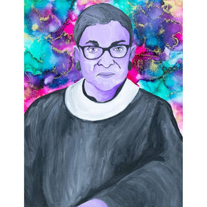 Ruth Bader Ginsburg Canvas Painting Wall Art