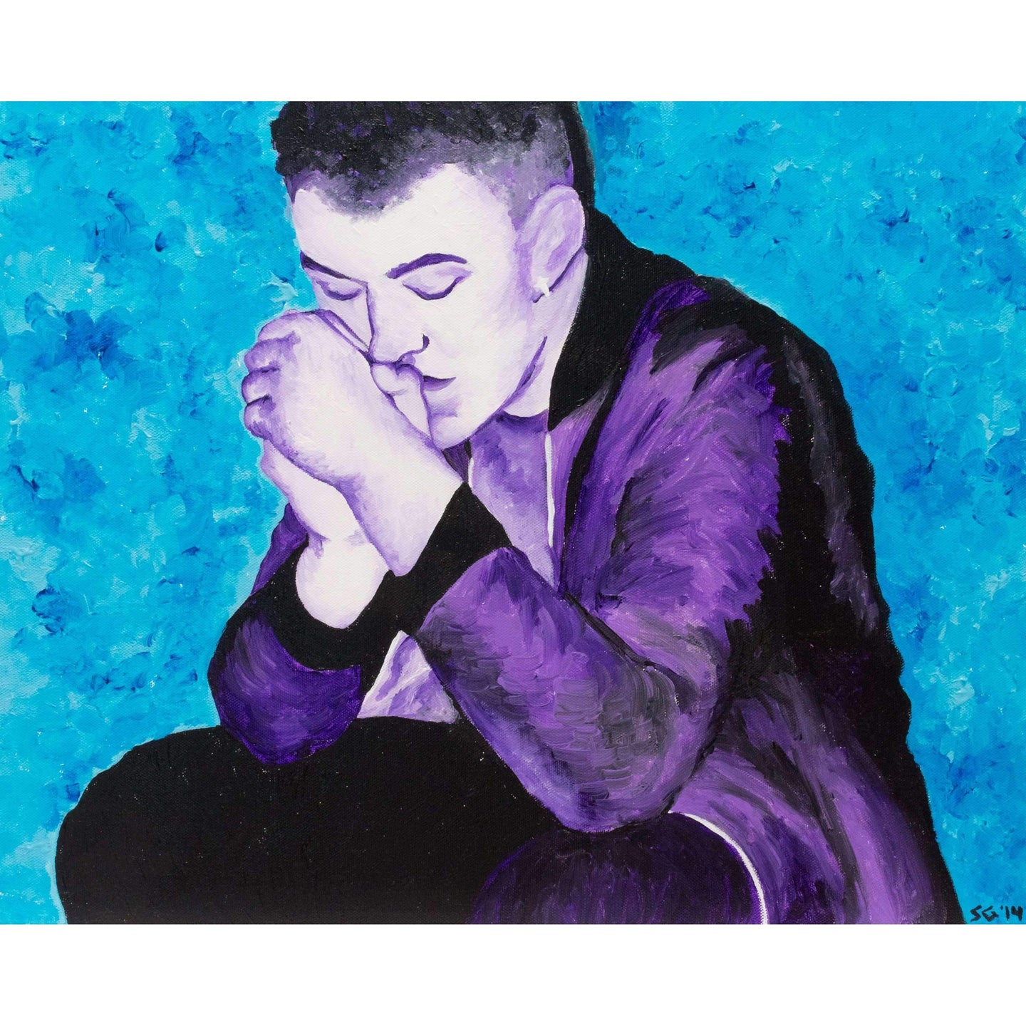 Sam Smith Canvas Painting Wall Art
