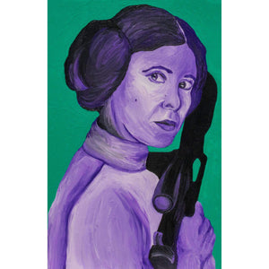 Star Wars Princess Leia Canvas Painting Wall Art
