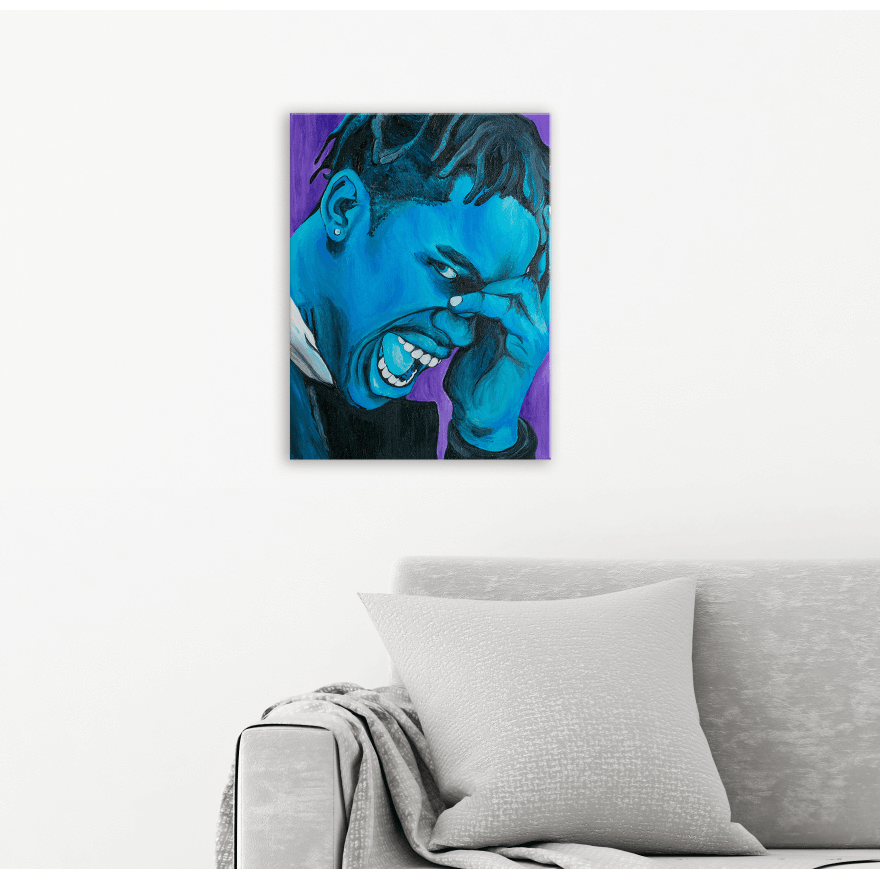 Travis Scott Acrylic Portrait