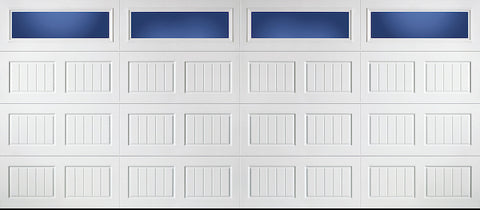 16x7 Economy Series Non-Insulated Garage Door With Windows (Style: Carriage)