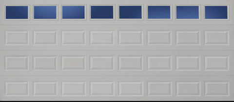 16x7 Economy Series Non-Insulated Garage Door With Windows (Style: Traditional)