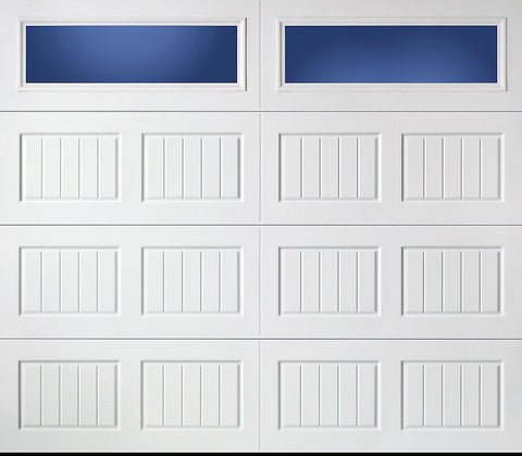8x7 Economy Series Non-Insulated Garage Door With Windows (Style: Carriage)